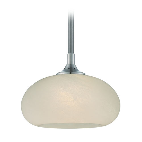 Designers Fountain Lighting Modern LED Mini-Pendant Light with Beige / Cream Glass LED6318-FS-SP