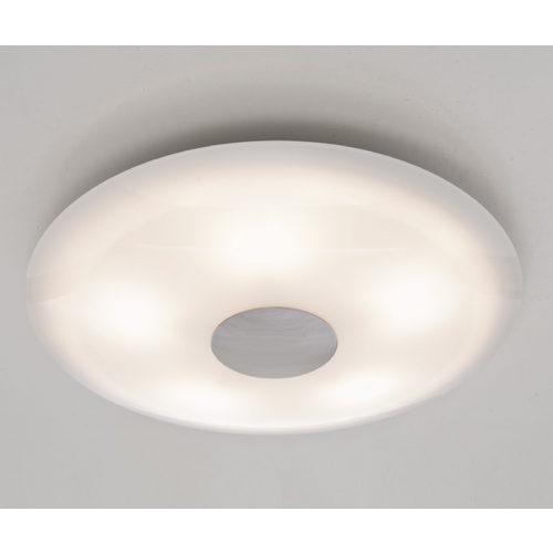 Holtkoetter Lighting Holtkoetter Modern Semi-Flushmount Light with White Glass in Satin Nickel Finish 3505SOL SN