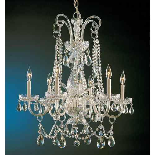 Crystorama Lighting Crystorama Lighting Traditional Crystal Polished Brass Chandelier 1030-PB-CL-MWP