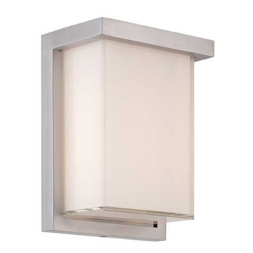 Modern Forms by WAC Lighting Modern Forms Ledge Brushed Aluminum LED Outdoor Wall Light WS-W1408-AL