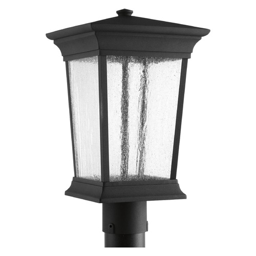 Progress Lighting Seeded Glass LED Post Light Black Progress Lighting P6427-3130K9