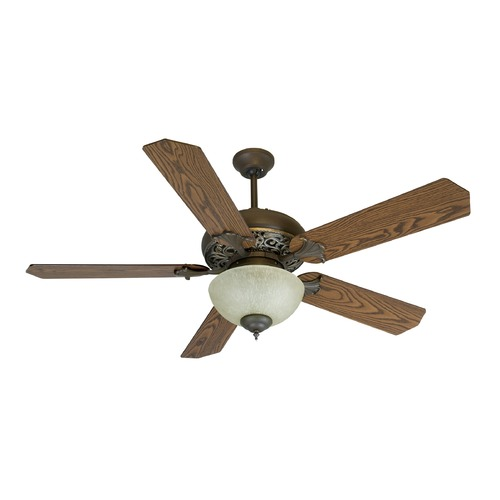 Craftmade Lighting Craftmade Lighting Mia Aged Bronze/vintage Madera Ceiling Fan with Light K10238