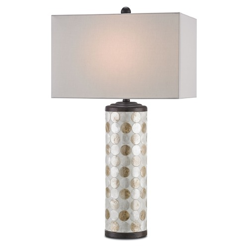 Currey and Company Lighting Currey and Company Seafair Bronze Gold/natural Table Lamp with Rectangle Shade 6867