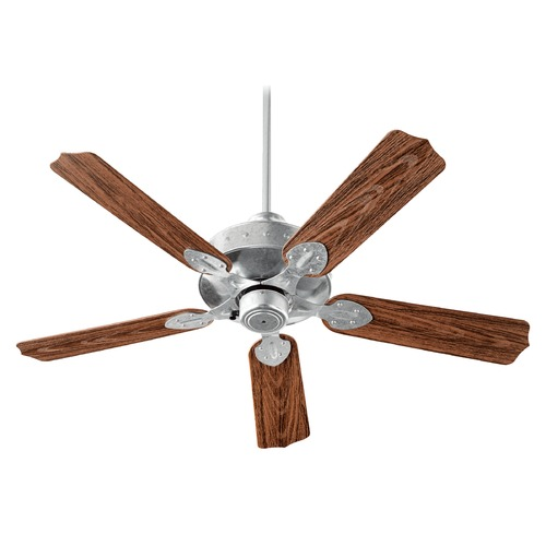 Quorum Lighting Quorum Lighting Hudson Galvanized Ceiling Fan Without Light 137525-924