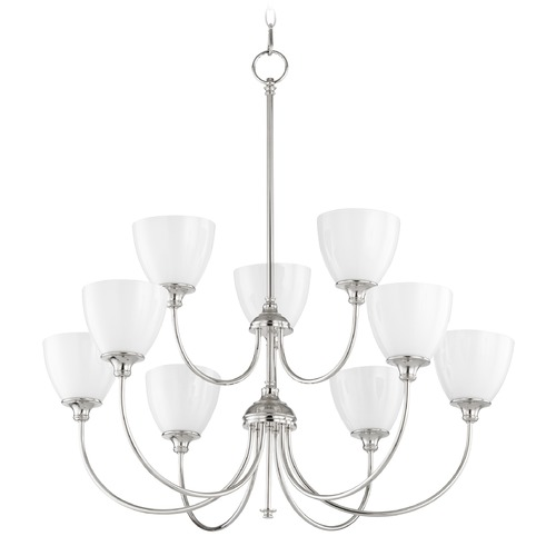 Quorum Lighting Quorum Lighting Celeste Polished Nickel Chandelier 6109-9-62