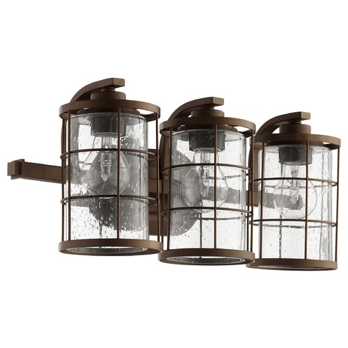 Quorum Lighting Quorum Lighting Ellis Oiled Bronze Bathroom Light 5364-3-86