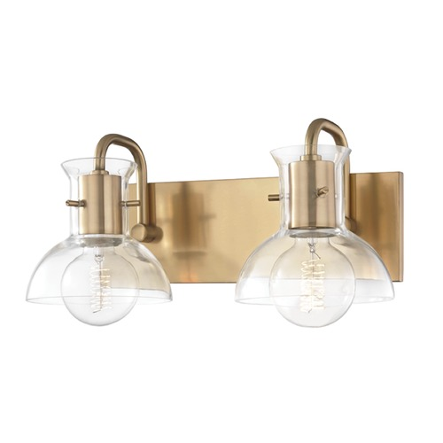 Hudson Valley Lighting Riley Aged Brass Bathroom Light Mitzi by Hudson Valley H111302-AGB