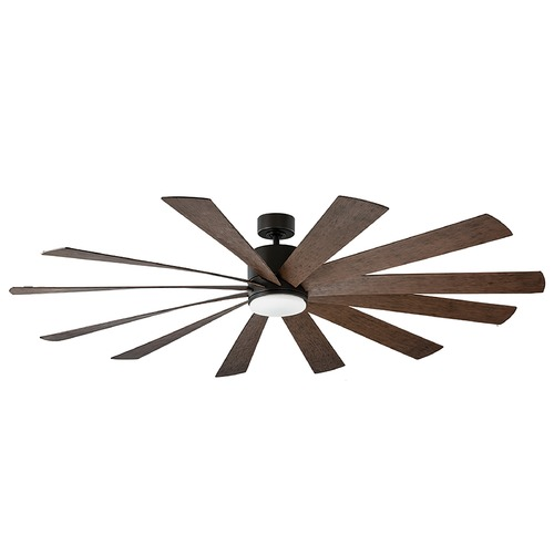 Modern Forms by WAC Lighting Modern Forms Oil Rubbed Bronze 80-Inch LED Smart Ceiling Fan 2041LM 3000K FR-W1815-80L-OB/DW
