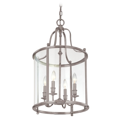 Hudson Valley Lighting Pendant Light with Clear Glass in Antique Nickel Finish 1315-AN