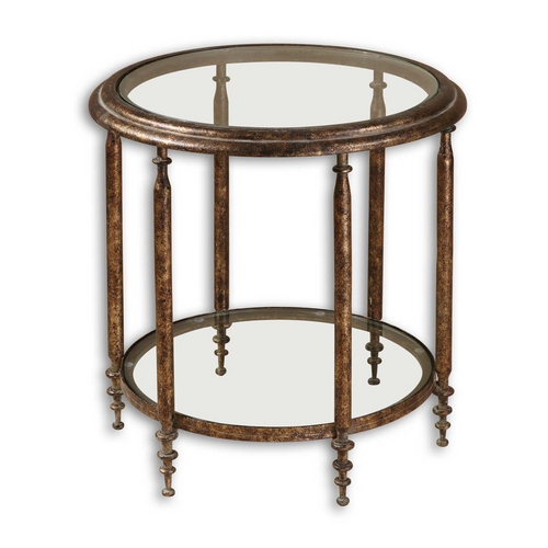 Uttermost Lighting Accent Table in Antique Gold Finish 26011