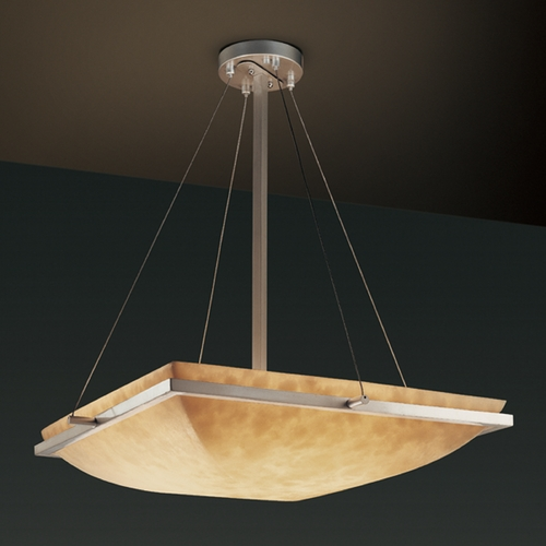 Justice Design Group Justice Design Group Clouds Collection Pendant Light CLD-9792-25-NCKL