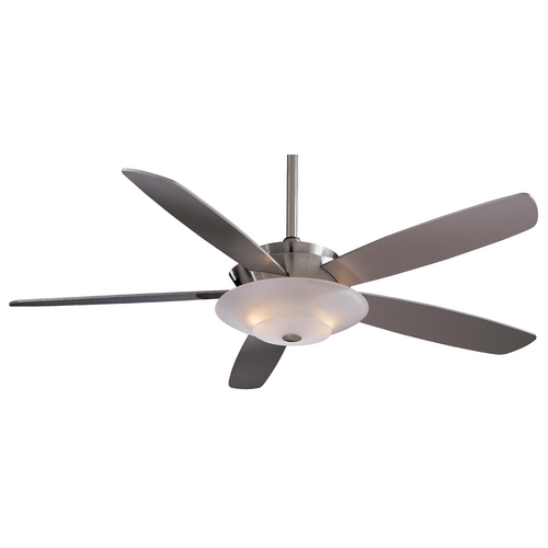 Minka Aire 54-Inch Ceiling Fan with Five Blades and Light Kit F598-BN