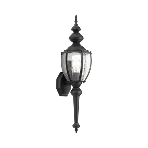 Progress Lighting Outdoor Wall Light with Clear Glass in Black Finish P5767-31