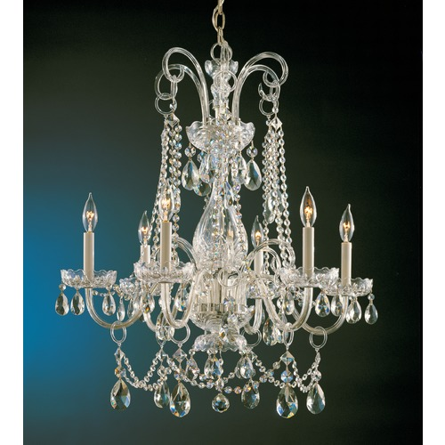 Crystorama Lighting Crystorama Lighting Traditional Crystal Polished Brass Chandelier 1030-PB-CL-S