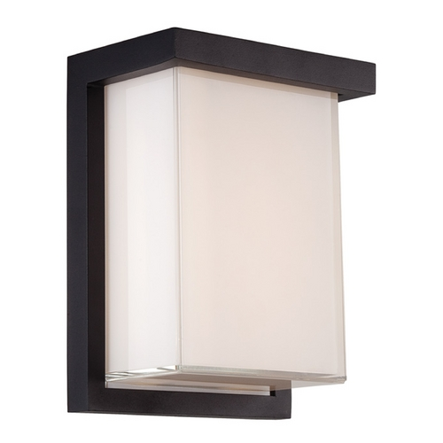 Modern Forms by WAC Lighting Modern Forms Ledge Black LED Outdoor Wall Light WS-W1408-BK