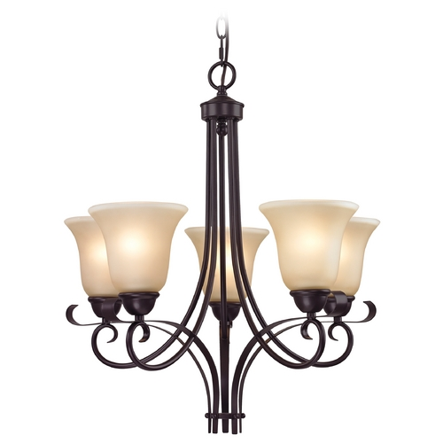 Cornerstone Lighting Cornerstone Lighting Brighton Oil Rubbed Bronze Chandelier 1005CH/10