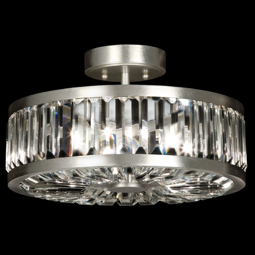 Fine Art Lamps Fine Art Lamps Crystal Enchantment Silver-Leafed Semi-Flushmount Light 815740ST