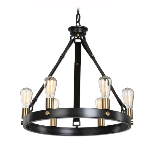 Uttermost Lighting Uttermost Marlow 6 Light Antique Bronze Chandelier 21273