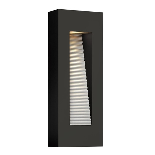 Hinkley Lighting Hinkley Lighting Luna Satin Black LED Outdoor Wall Light 1668SK-LED