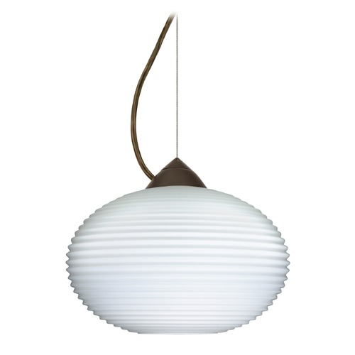 Besa Lighting Besa Lighting Pape Bronze Pendant Light with Globe Shade 1KX-491207-BR
