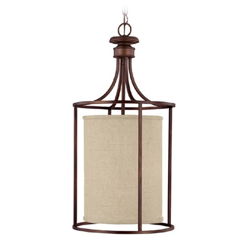 Capital Lighting Capital Lighting Midtown Burnished Bronze Pendant Light with Cylindrical Shade 9042BB-473