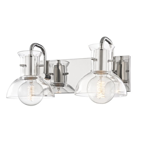Mitzi by Hudson Valley Riley Polished Nickel Bathroom Light Mitzi by Hudson Valley H111302-PN