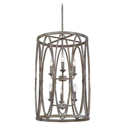 Feiss Lighting Feiss Lighting Patrice Deep Abyss Pendant Light with Cylindrical Shade F3223/6DA