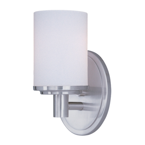 Maxim Lighting Maxim Lighting Cylinder Satin Nickel Sconce 9051SWSN