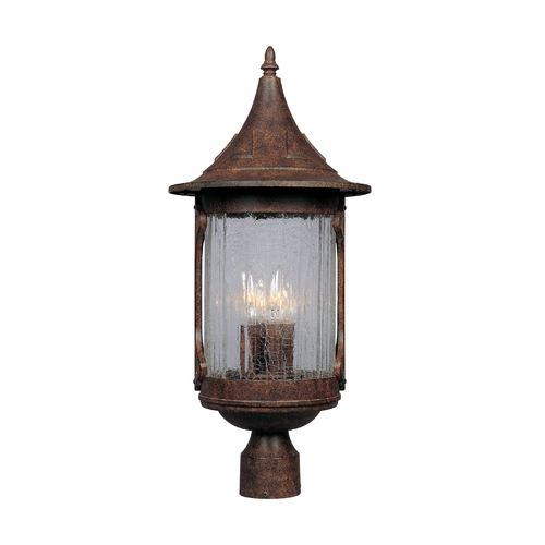 Designers Fountain Lighting Post Light with Clear Glass in Chestnut Finish 20936-CHN