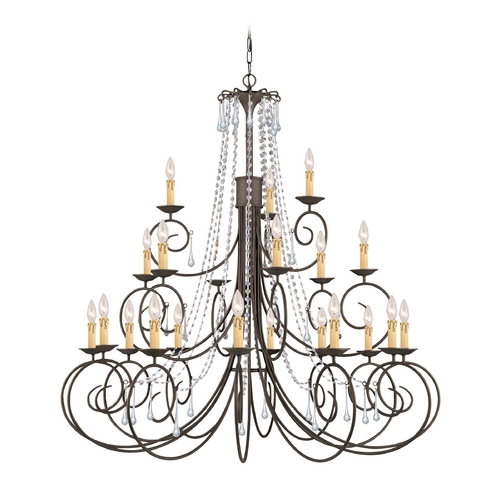 Crystorama Lighting Crystal Chandelier in Dark Rust Finish 5219-DR-CL-SAQ