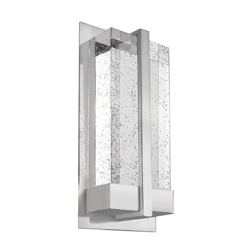 Kuzco Lighting Modern Brushed Nickel LED Sconce with Bubble Shade 3000K 250LM WS2812-BN
