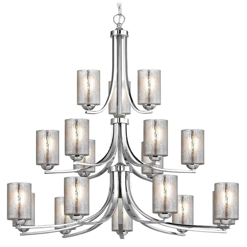 Design Classics Lighting Design Classics Dalton Fuse Chrome Chandelier 5863-26 GL1039C