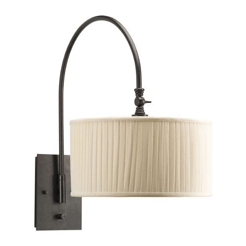 Progress Lighting Progress Sconce Wall Light with Beige / Cream Shade in Espresso Finish P2849-84