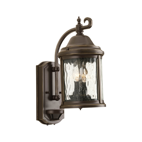 Progress Lighting Outdoor Wall Light with Clear Glass in Antique Bronze Finish P5854-20