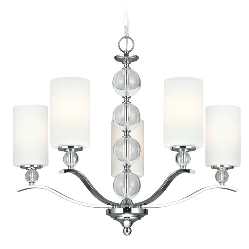Sea Gull Lighting Sea Gull Lighting Englehorn Chrome / Optic Crystal Chandelier 3113405BLE-05