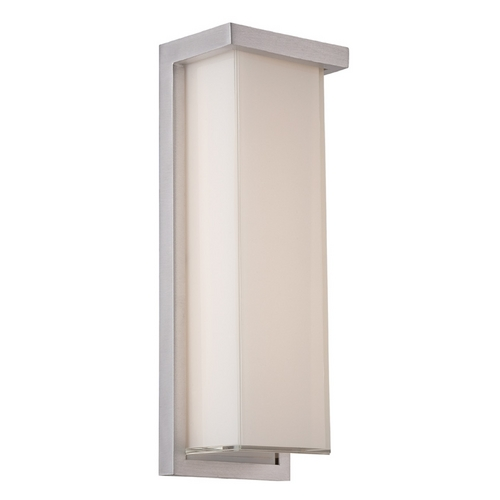 Modern Forms by WAC Lighting Modern Forms Ledge Brushed Aluminum LED Outdoor Wall Light WS-W1414-AL