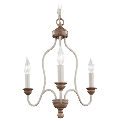 Feiss Lighting Feiss Lighting Hartsville Chalk Washed / Beachwood Mini-Chandelier F2997/3CHKW/BW