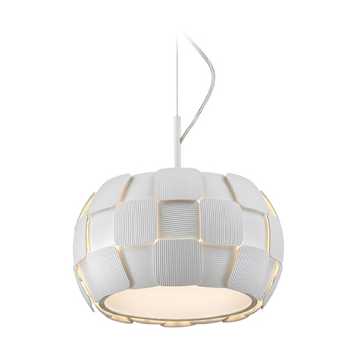 Access Lighting Access Lighting Layers White Pendant Light 50904-WH/WH