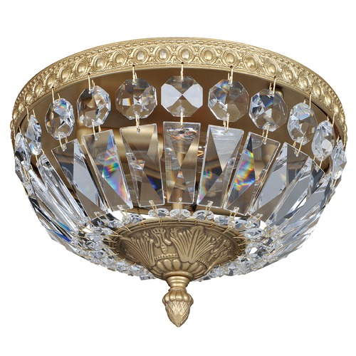 Allegri Lighting Lemire 2 Light Flush Mount w/ Antique Gold 025940-031-FR001