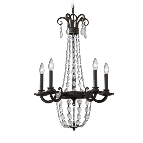 Uttermost Lighting Uttermost Icelandia 5 Light Textured Black Chandelier 21274