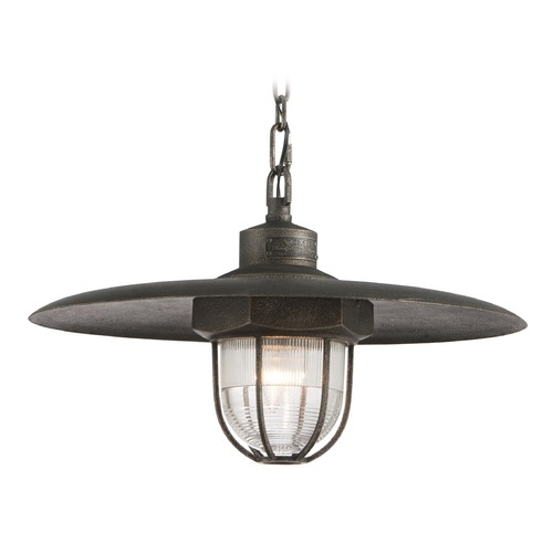 Troy Lighting Troy Lighting Acme Aged Silver LED Pendant Light with Bowl / Dome Shade FL3897