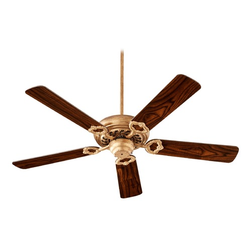 Quorum Lighting Quorum Lighting Monticello Vintage Gold Leaf Ceiling Fan Without Light 17525-30