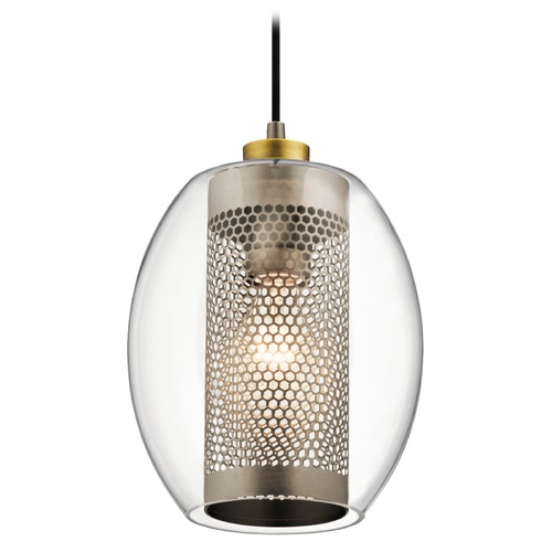 Kichler Lighting Transitional Pendant Light Pewter Asher by Kichler Lighting 44102AP