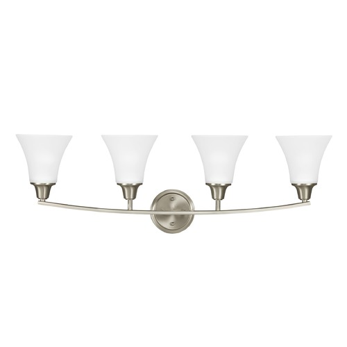 Sea Gull Lighting Sea Gull Lighting Metcalf Brushed Nickel LED Bathroom Light 4413204EN3-962