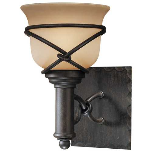 Minka Lavery Sconce with Beige / Cream Glass in Aspen Bronze Finish 5971-1-138