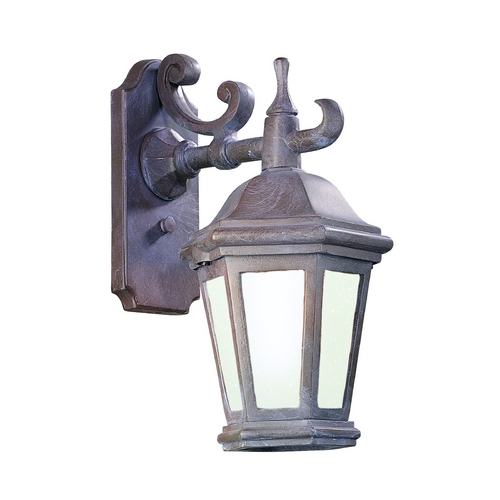 Troy Lighting Outdoor Wall Light with Clear Glass in Antique Bronze Finish BFCD6890ABZ
