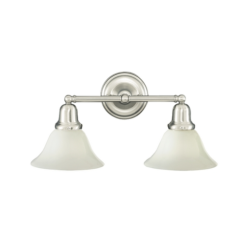 Hudson Valley Lighting Bathroom Light with White Glass in Old Bronze Finish 582-OB-415