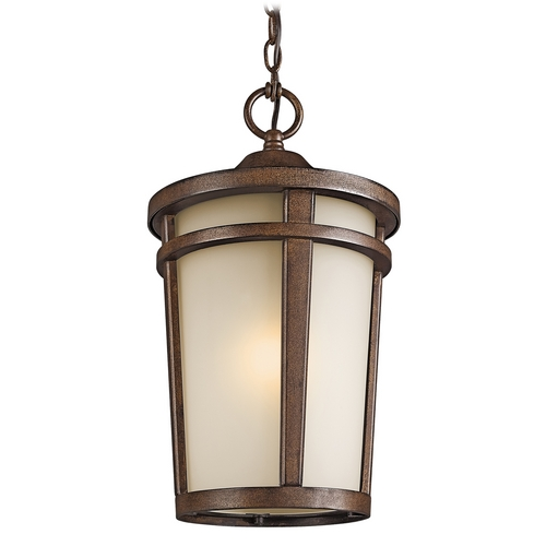 Kichler Lighting Kichler Outdoor Hanging Light in Brown Stone Finish 49075BST