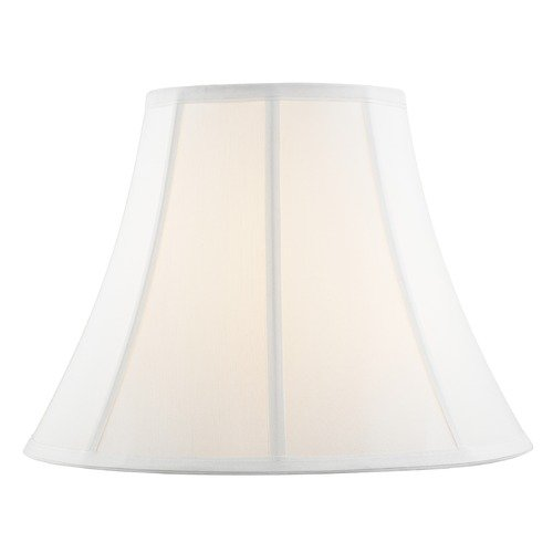 Design Classics Lighting Pure White Bell Fabric Lamp Shade with Piping and Spider Assembly SH9690