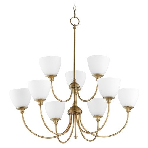 Quorum Lighting Quorum Lighting Celeste Aged Brass Chandelier 6109-9-80